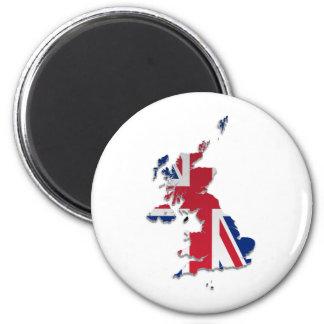 UK & Crown Dependencies Flag Map_3 2 Inch Round Magnet