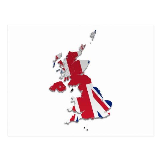 UK & Crown Dependencies Flag Map_4 Postcard