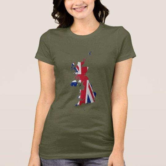 UK & Crown Dependencies Flag Map T-Shirt