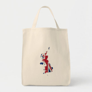 UK & Crown Dependencies Flag Map Tote Bag
