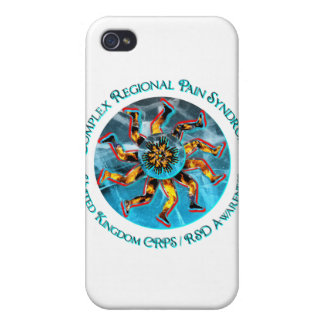 UK CRPS/RSD Awareness World of Fire & Ice Graphics Cover For iPhone 4