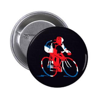 UK Cycling Pinback Button