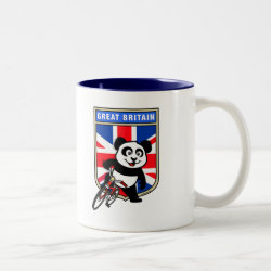 Two-Tone Mug with Great Britain Cycling Panda design