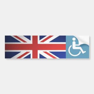 UK Disabled Veteran. Bumper Sticker