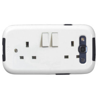 UK electric socket design Galaxy S3 Covers