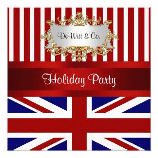 UK England Flag Party Invitation Red White Blue