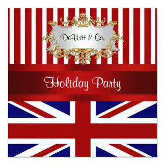 UK England Flag Party Invitation Red White Blue