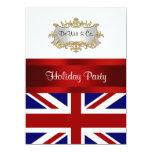 UK England Flag Party Invitation Red White Blue V