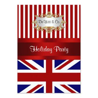 UK England Flag Party Invitation Red White Blue V2