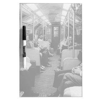 UK England London railway inside coach 1970 Dry Erase Board