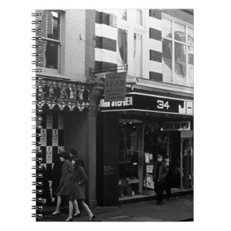 UK England London Shops Carnaby street 1970 Spiral Note Books