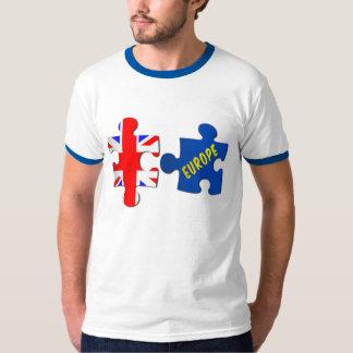 UK Europe Referendum Jigsaw Puzzle Ringer T-Shirt