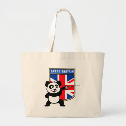 Jumbo Tote Bag with Great Britain Fencing Panda design
