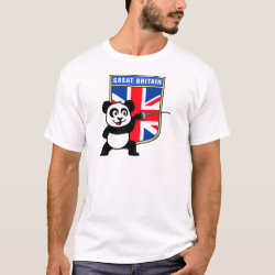 Men's Basic T-Shirt with Great Britain Fencing Panda design
