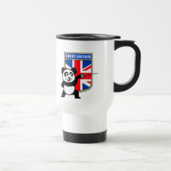 Travel / Commuter Mug with Great Britain Fencing Panda design