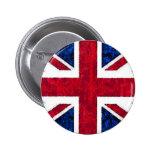 UK FLAG 2 INCH ROUND BUTTON
