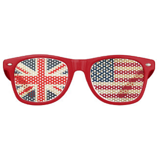 UK Flag and USA Flag Party Shades (Red)
