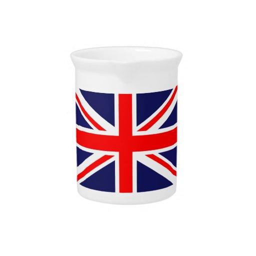 UK Flag Beverage Pitcher