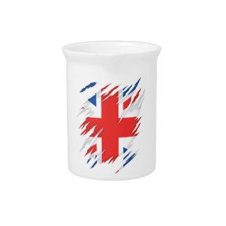 UK Flag Beverage Pitchers