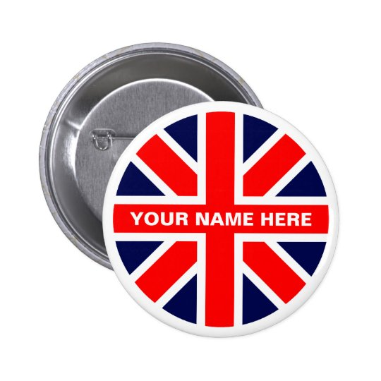 UK flag. Button