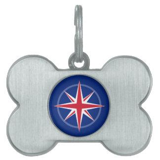 UK Flag Compass Rose Pet ID Tag