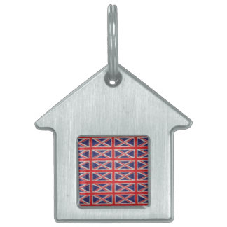 UK FLAG DESIGN PET TAG