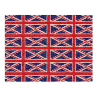 UK FLAG DESIGN POSTCARDS