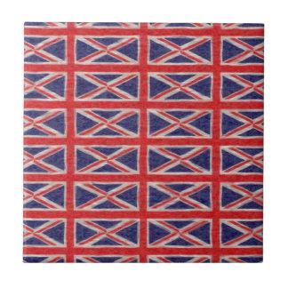UK FLAG DESIGN SMALL SQUARE TILE
