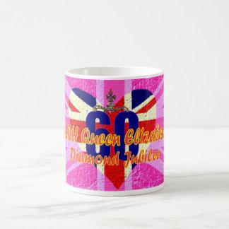 UK flag Diamond Jubilee commemorative mug