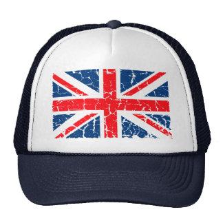 UK Flag Distressed Trucker Hat