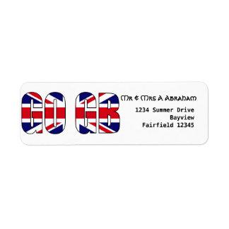 UK flag GO GB sports travel Label