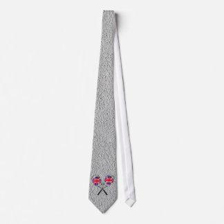UK flag grey wimbledon tie