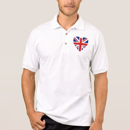 UK Flag Heart and Map Polo