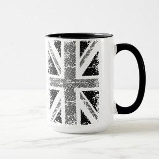 UK flag in black and white Mug