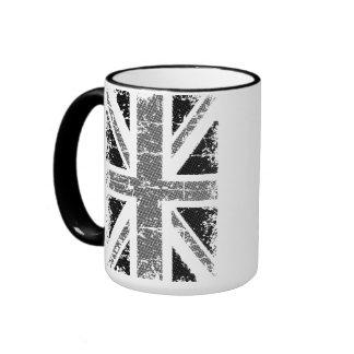 UK flag in black and white Coffee Mug