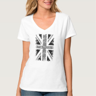 UK flag in black and white T-Shirt