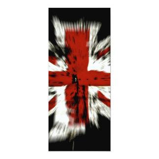 "UK Flag 4"" X 9.25"" Invitation Card"