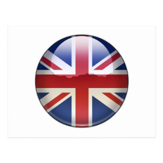 UK Flag Jewel Postcard