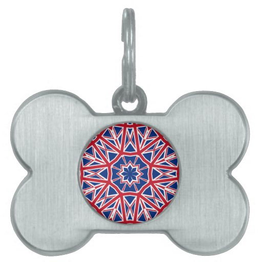 UK FLAG KALEIDOSCOPE PET TAG