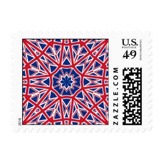 UK FLAG KALEIDOSCOPE POSTAGE