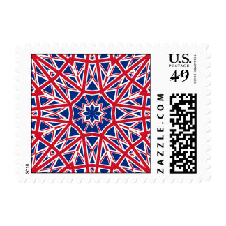 UK FLAG KALEIDOSCOPE POSTAGE STAMP