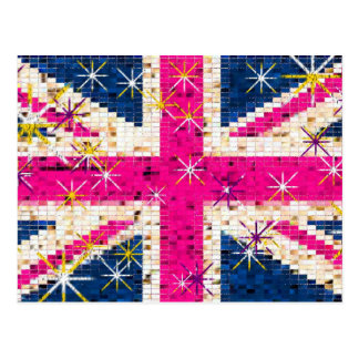 UK flag London Postcard