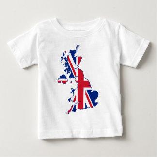 UK Flag Map Baby T-Shirt