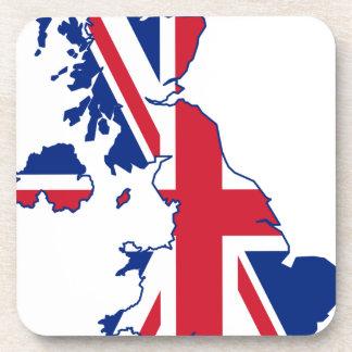 UK Flag Map Beverage Coaster