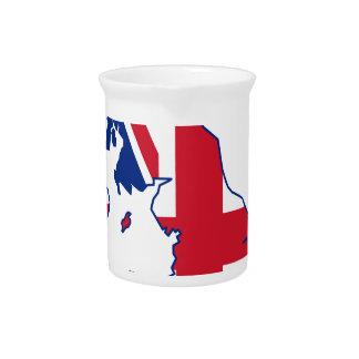 UK Flag Map Beverage Pitcher