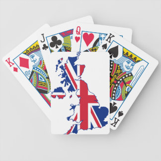 UK Flag Map Bicycle Playing Cards