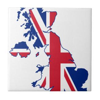 UK Flag Map Ceramic Tile