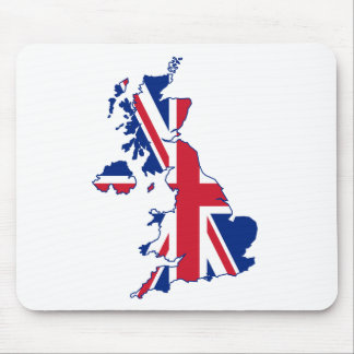 UK Flag Map Mouse Pad