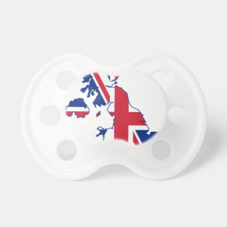 UK Flag Map Pacifier