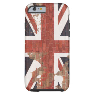 UK Flag on Wall Tough iPhone 6 Case